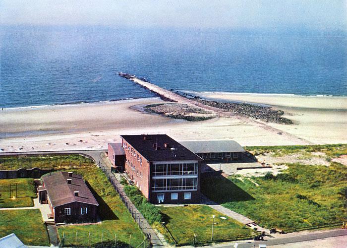 Haus am Meer aus der Luft gesehen · Historische